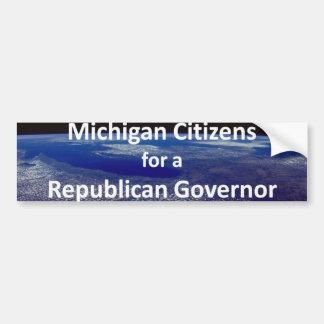 Michigan Citizens for a Republican Governor Bumper Sticker