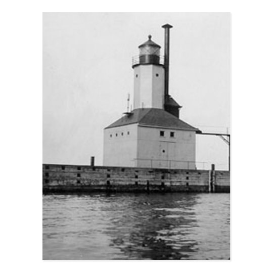 Michigan City East Lighthouse Postcard