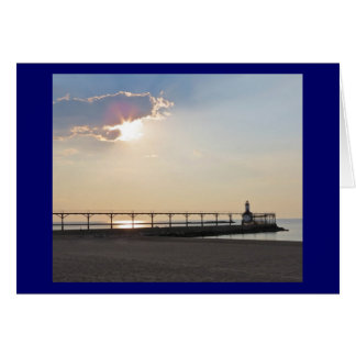 Michigan City in the Evening Card