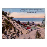 Michigan City Indiana Sheridan Beach Greeting Cards
