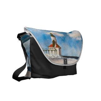 Michigan City Lighthouse Messenger Bag