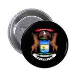 Michigan coat of arms pin