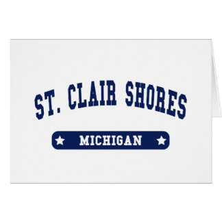 Michigan College Style tee shirts Cards