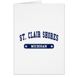 Michigan College Style tee shirts Greeting Card