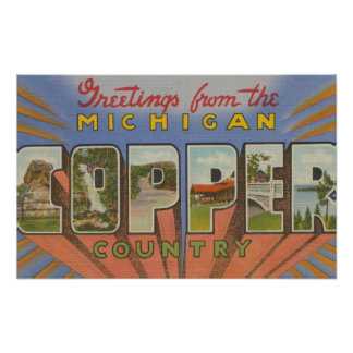 Michigan (Copper County) - Large Letter Scenes Posters
