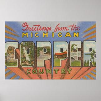 Michigan (Copper County) - Large Letter Scenes Poster