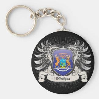 Michigan Crest Key Ring