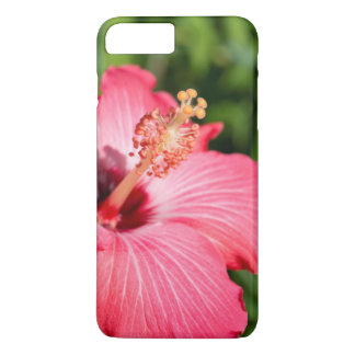 Michigan, Dearborn. Detail Of Pink Hibiscus iPhone 7 Plus Case