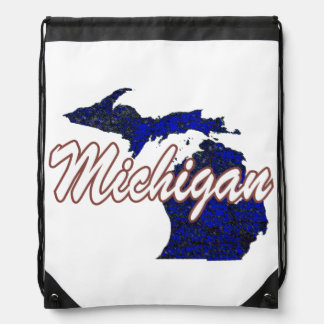 Michigan Drawstring Bag