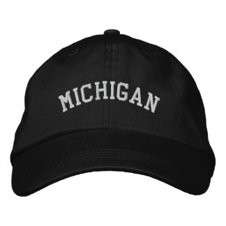 Michigan Embroidered Adjustable Cap Black