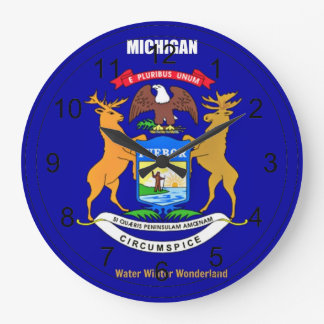 Michigan Flag and Slogan Clocks
