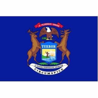 Michigan Flag Keychain Cut Out