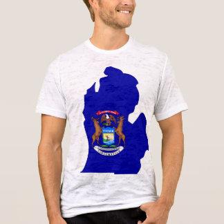 Michigan Flag Map T-Shirt