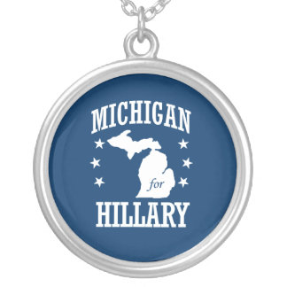 MICHIGAN FOR HILLARY ROUND PENDANT NECKLACE