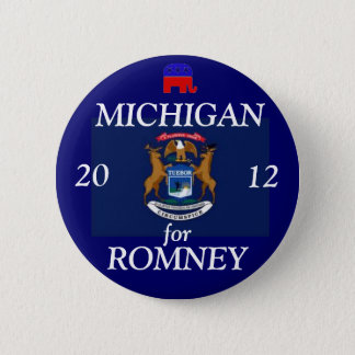 Michigan for Romney 2012 6 Cm Round Badge