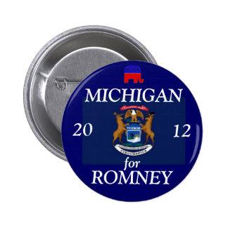 Michigan for Romney 2012 Pinback Button
