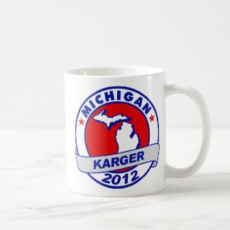 Michigan Fred Karger Classic White Coffee Mug