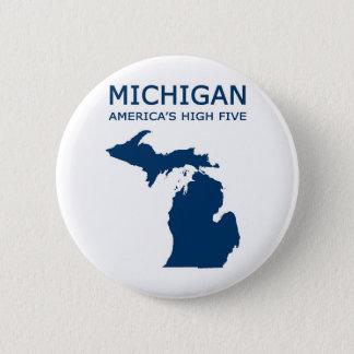Michigan H5 6 Cm Round Badge