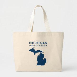 Michigan H5 Large Tote Bag