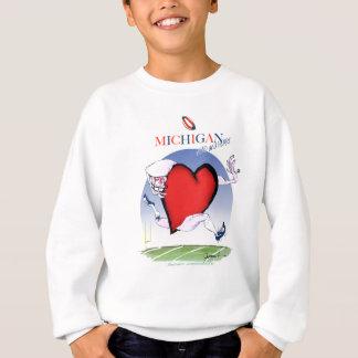 michigan head heart, tony fernandes sweatshirt