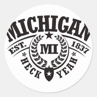 Michigan Heck Yeah Est 1837 Sticker