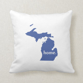Michigan home silhouette state map cushion