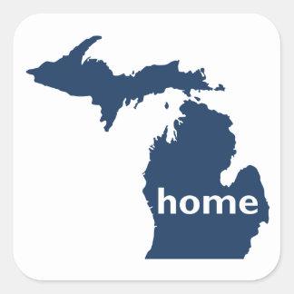 Michigan Home Square Sticker