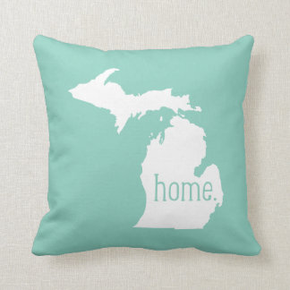 Michigan Home State Throw Pillow