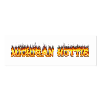Michigan hottie fire and flames pack of skinny business cards