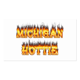 Michigan hottie fire and flames pack of standard business cards