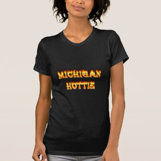 Michigan hottie fire and flames tee shirt