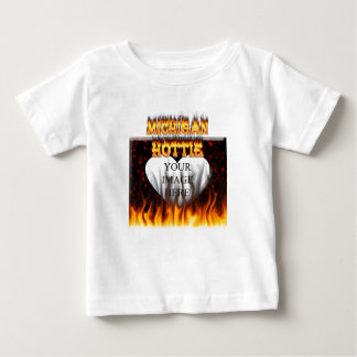 Michigan Hottie fire and red marble heart. T-shirts