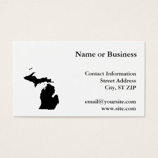 Michigan in Black and White Business Card