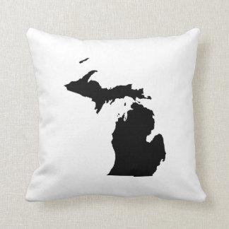 Michigan in Black and White Cushion