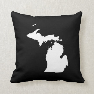 Michigan in White and Black Cushion