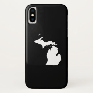 Michigan in White and Black iPhone X Case