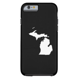 Michigan in White and Black Tough iPhone 6 Case
