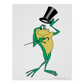 Michigan J. Frog in Color Poster