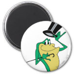 Michigan J. Frog in Colour 6 Cm Round Magnet