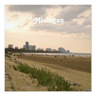 """Michigan Landscape 5.25"""" Square Invitation Card"""