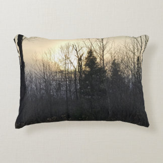 Michigan Landscape Sunset Accent Pillow