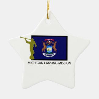 MICHIGAN LANSING MISSION LDS CTR CERAMIC STAR DECORATION