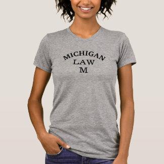 Michigan Law Tshirt Gray Lawyer