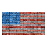 Michigan License Plate Flag Art Poster