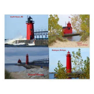 Michigan Lighthouses Postcard