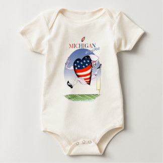 michigan loud and proud, tony fernandes baby bodysuit