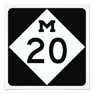 Michigan M-20 13 Cm X 13 Cm Square Invitation Card