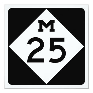 Michigan M-25 13 Cm X 13 Cm Square Invitation Card