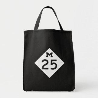Michigan M-25 Grocery Tote Bag