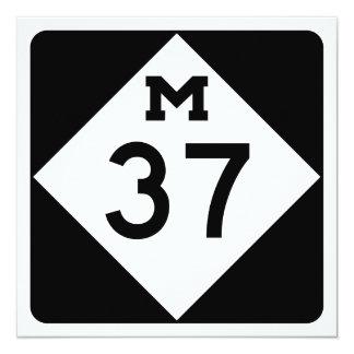 Michigan M-37 13 Cm X 13 Cm Square Invitation Card